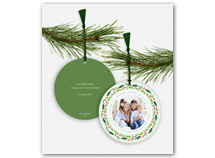 Merry Christmas Lots of Joy Photo Ornament Cards